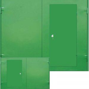 Ворота с утеплением, обшитые двусторонним металлом [MP – 006]