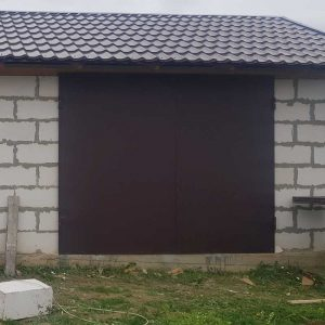 Ворота глухие гаражные ВГМП – 002 (Без калитки и утепления)